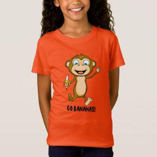 Vai o t-shirt das meninas das bananas camiseta
