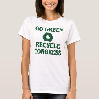 Vai verde - o congresso do reciclar camiseta