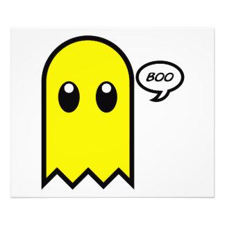 vaia assustador do amarelo bonito do fantasma impressão de foto