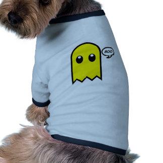 vaia assustador do amarelo bonito do fantasma camisa ringer para cachorro