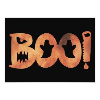 VAIA! Cartão assustador alaranjado & preto do Dia