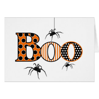 VAIA com aranhas o Dia das Bruxas Cartão De Nota