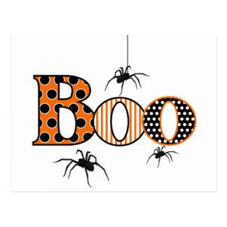 VAIA com aranhas o Dia das Bruxas Cartao Postal