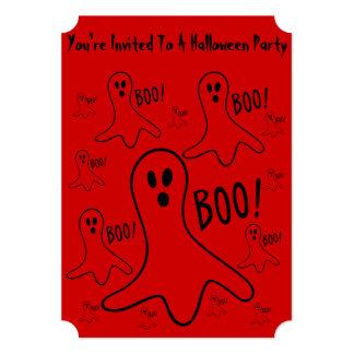 vaia shouting dos fantasmas engraçados! partido do convite 12.7 x 17.78cm