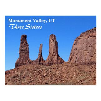 Vale bonito do monumento, cartão de três irmãs!