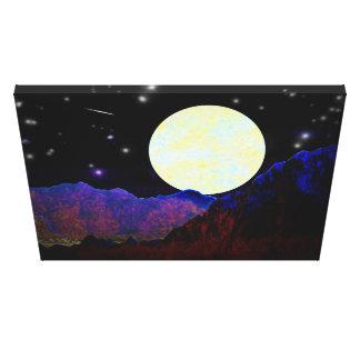 Vale da lua impressão em canvas