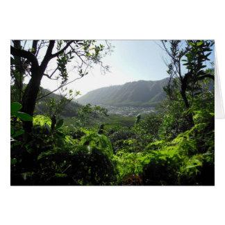 Vale de Manoa, Havaí Cartão Comemorativo