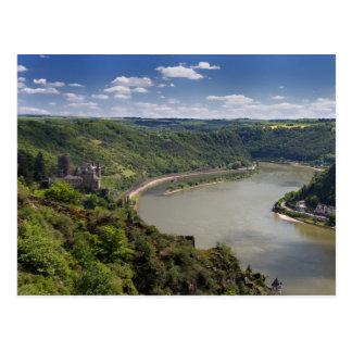 Vale de Rhine - cartão de Katz do castelo