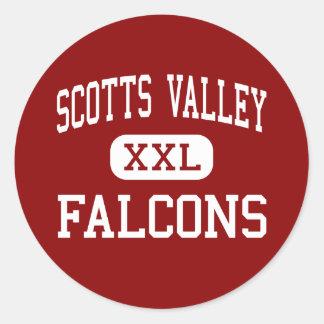 Vale de Scotts - Falcons - alto - vale de Scotts Adesivo Redondo