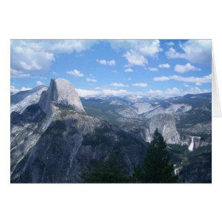 Vale de Yosemite do ponto da geleira Cartão Comemorativo