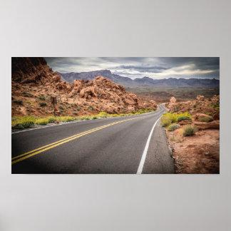 Vale do parque estadual do fogo - poster de Nevada