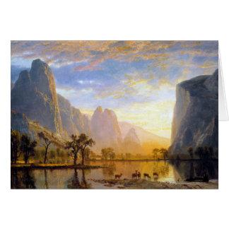 Vale do Yosemite Cartão Comemorativo