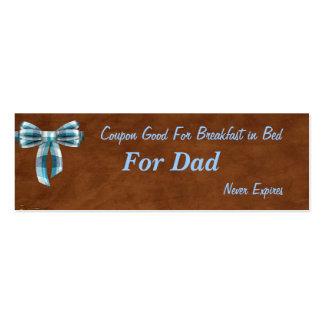 Vale para o pai, pequeno almoço no Tag do Natal da Cartão De Visita Skinny