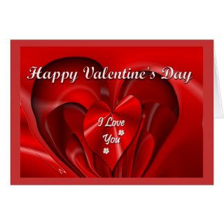 Valentine&apos feliz; dia de s cartão comemorativo