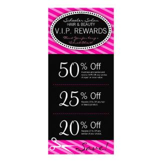 Vales do salão de beleza do rosa quente panfletos informativos personalizados