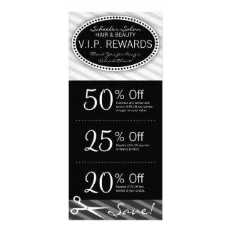 Vales pretos & cinzentos do salão de beleza panfleto personalizado