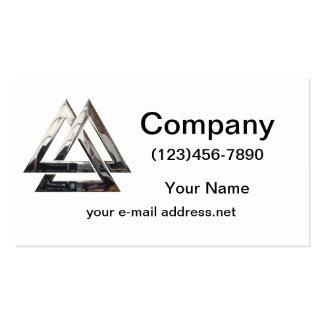 Valknut - prata cartões de visita