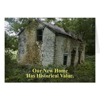 Valor histórico - mudança de endereço engraçada cartão comemorativo