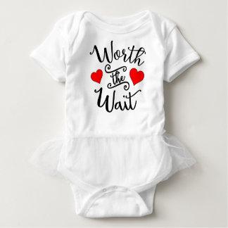 Valor o Bodysuit do tutu do bebê da espera Body Para Bebê