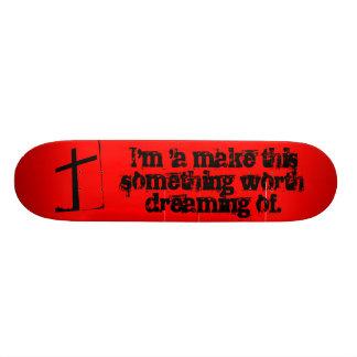 Valor que sonha do conselho shape de skate 21,6cm
