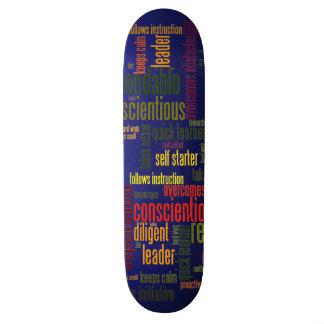 Valores inspiradores do positivo das palavras 4 skate