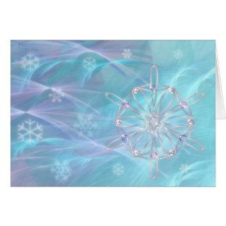 Valsa do cartão de Natal dos flocos de neve