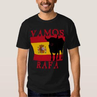 Vamos Rafa com a bandeira da espanha Camisetas