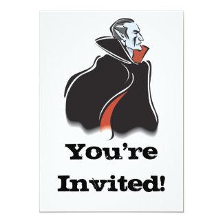 vampiro assustador de dracula convite 12.7 x 17.78cm