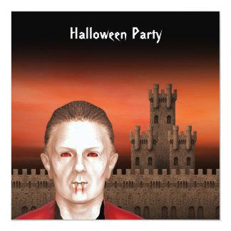 Vampiro - convite de festas do Dia das Bruxas