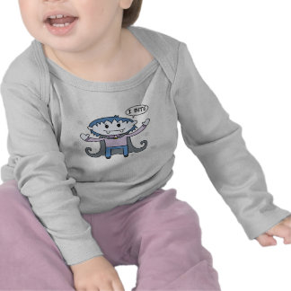 Vampiro de Kawaii - luva longa infantil T-shirt