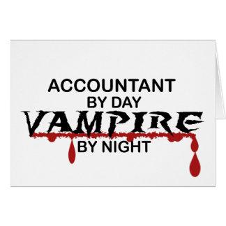 Vampiro do contador em a noite cartão