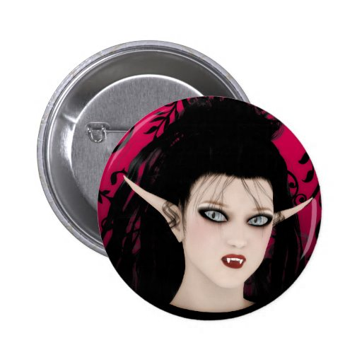 Vampiro gótico da arte da diva escura boton