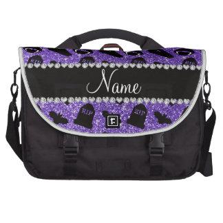 Vampiro roxo conhecido personalizado do brilho mochila para laptop