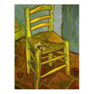 Van Gogh, a cadeira de Vincent com sua tubulação Cartão Postal