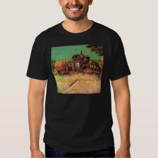 Van Gogh; Acampamento dos ciganos com caravana Tshirt