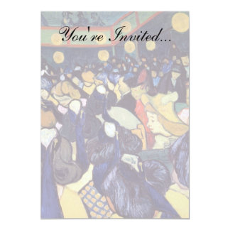 Van Gogh - dança salão em Arles Convite 12.7 X 17.78cm