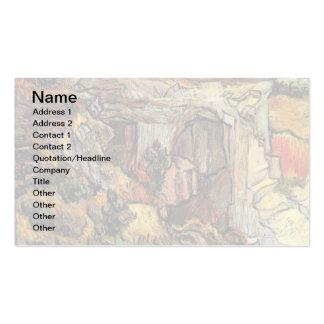 Van Gogh - entrada a uma pedreira perto do santo Cartão De Visita