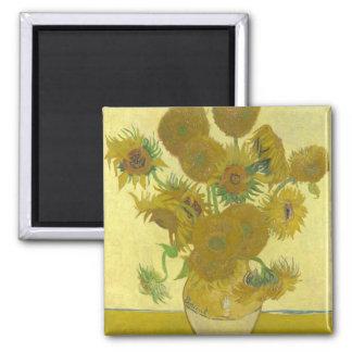 Van Gogh - imã de geladeira dos girassóis