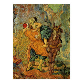 Van Gogh o bom samaritano, impressionismo do Cartão Postal
