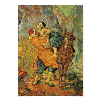 Van Gogh o bom samaritano, impressionismo do Convite 12.7 X 17.78cm