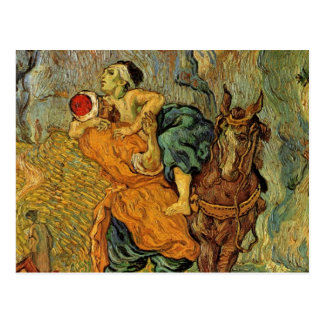 Van Gogh o bom samaritano, impressionismo do vinta Cartões Postais