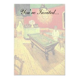 Van Gogh - o café da noite Convite 12.7 X 17.78cm