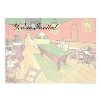 Van Gogh - o café da noite em Arles Convite 12.7 X 17.78cm