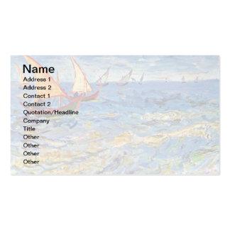 Van Gogh - o mar em Saintes Maries Cartão De Visita