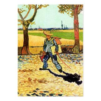 Van Gogh: Pintor em sua maneira de trabalhar Cartão De Visita Grande