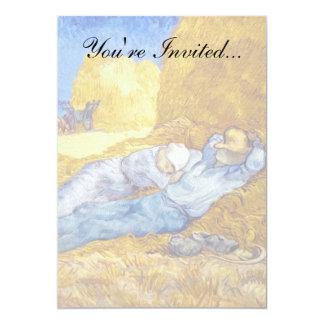 Van Gogh - resto do meio-dia do trabalho Convite 12.7 X 17.78cm