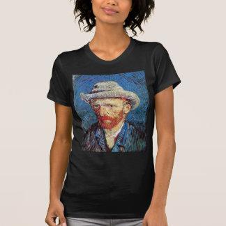 Van Gogh - retrato de auto com o chapéu de feltro Camiseta