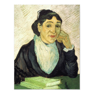 Van Gogh, retrato de L'Arlesienne (senhora Ginoux) Convite Personalizado