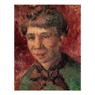 Van Gogh Retrato de uma mulher senhora Tanguy Convite Personalizado