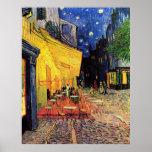 Van Gogh, terraço do café na noite, belas artes do